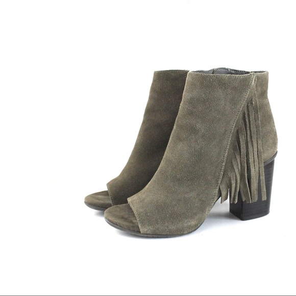 Kenneth Cole Reaction Shoes - Kenneth Cole Reaction Nubuck Leather Fringe Bootie